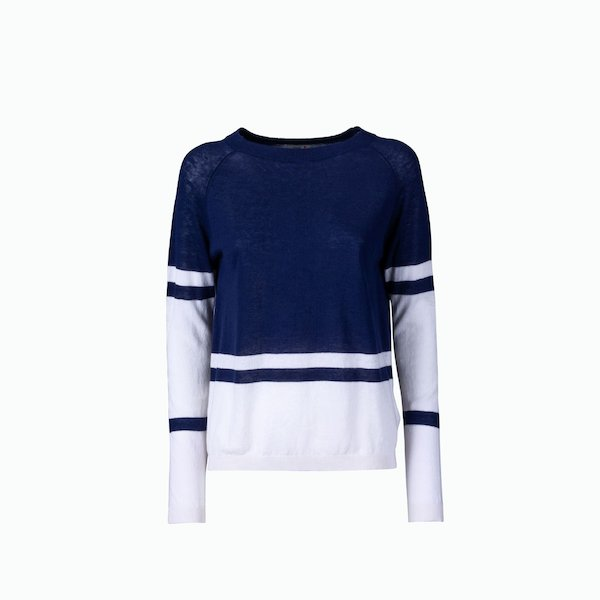 Women's pullover C159 with wide boat neck