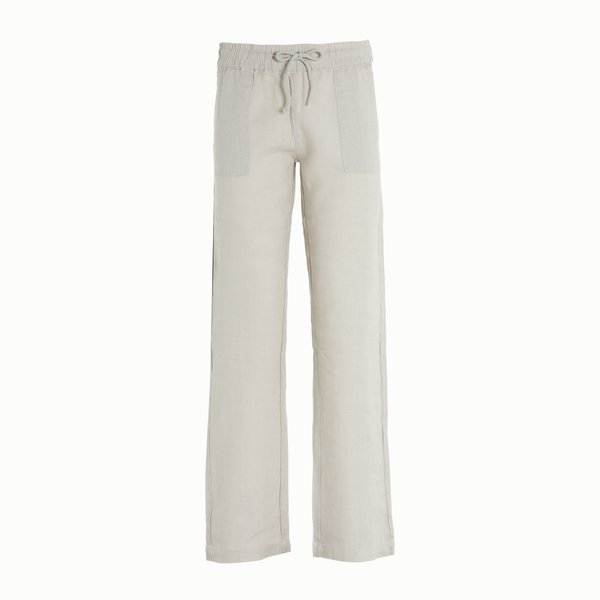 C14 Linen women's trousers with elastic waistband