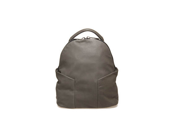 Military green backpack with side cargo pockets