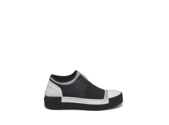 Grey plush slip-on
