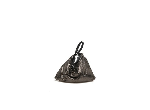 Mini bronze metallic bag