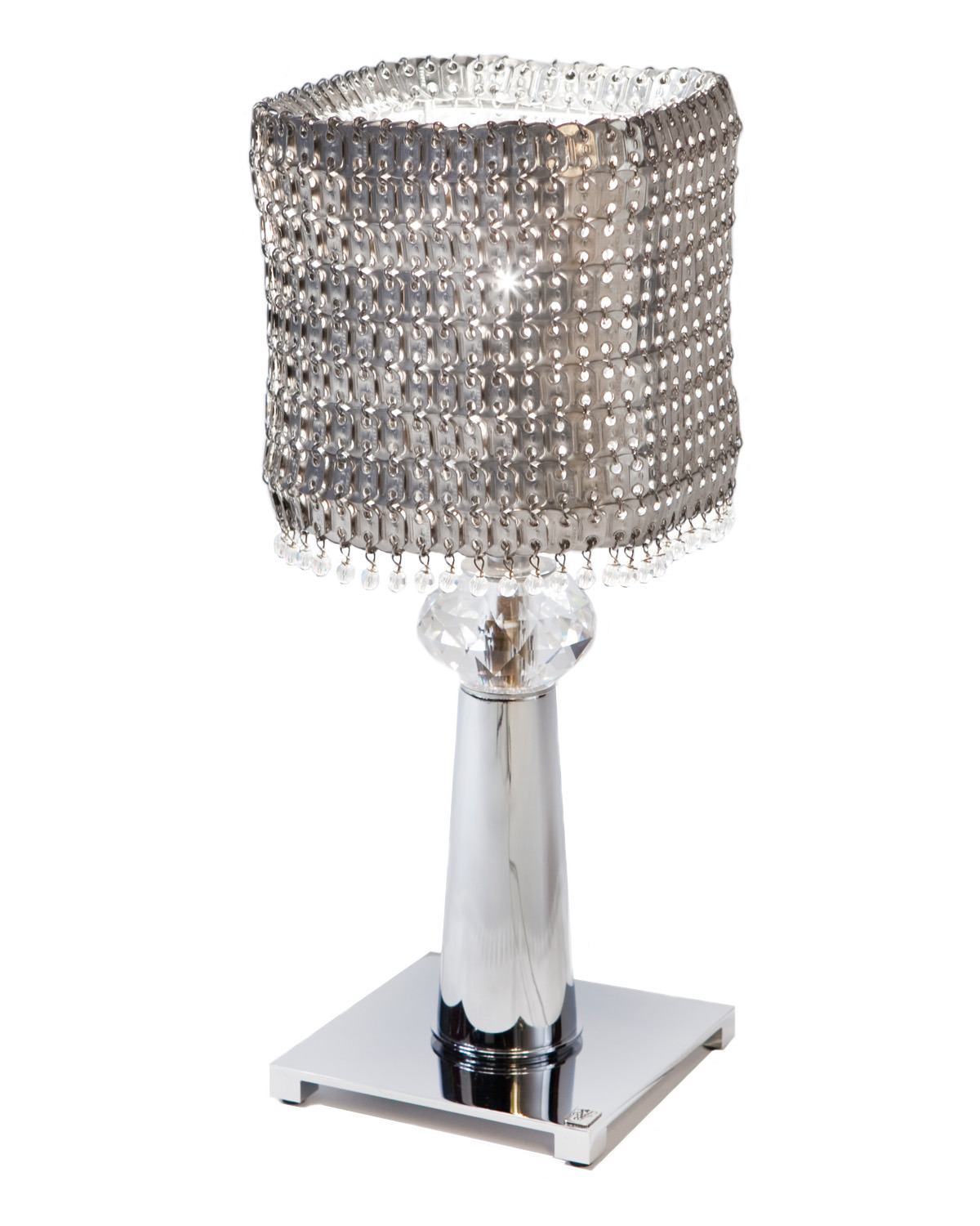 Visionnaire online shop table lamp base in stainless steel and visionnaire online shop table lamp base in stainless steel and sphere in swarovski crystal natural aluminium plates lampshade decorated with swarovski aloadofball Images
