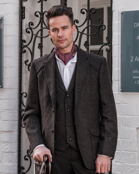Pantalon en tweed pour homme
