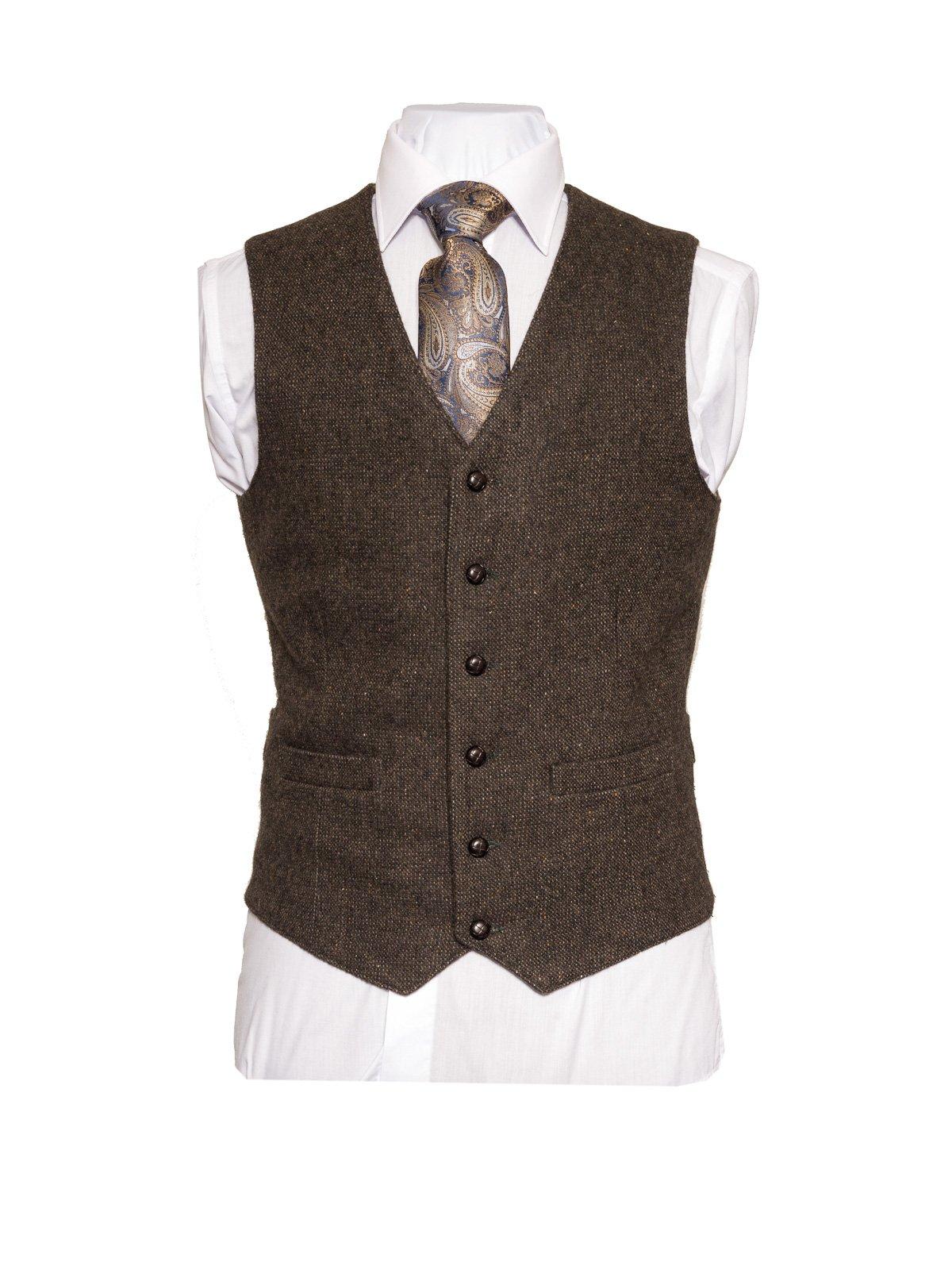 Brown Tweed Vest