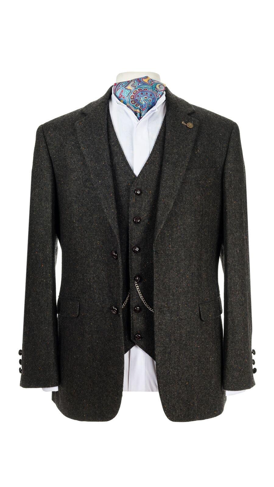 Oscar Wilde Brown Hopsack Tweed jacket.