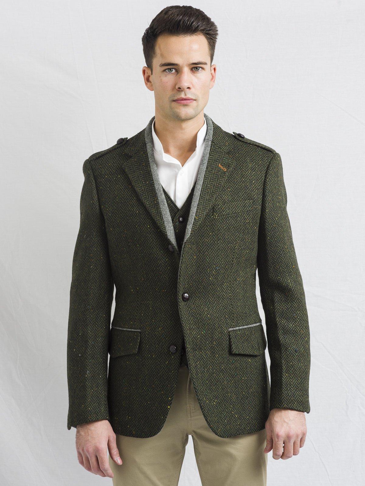 Green Tweed Three Piece Suit
