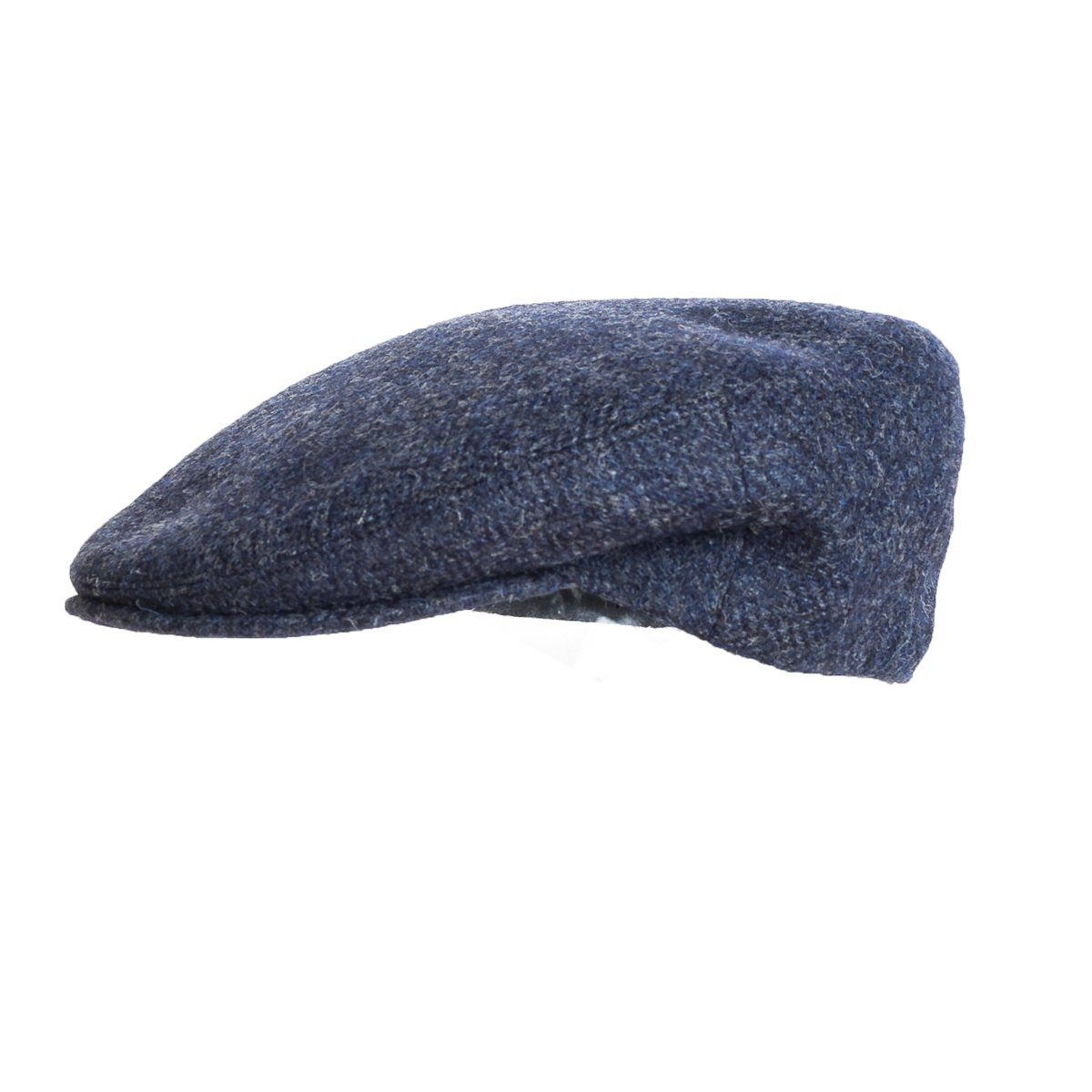 Blue Donegal Tweed Flat Cap