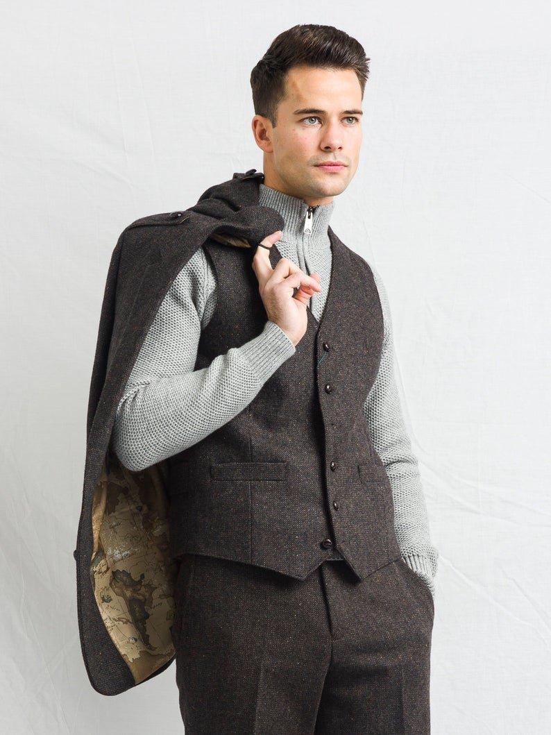 Oscar Wilde Brown Tweed Jacket