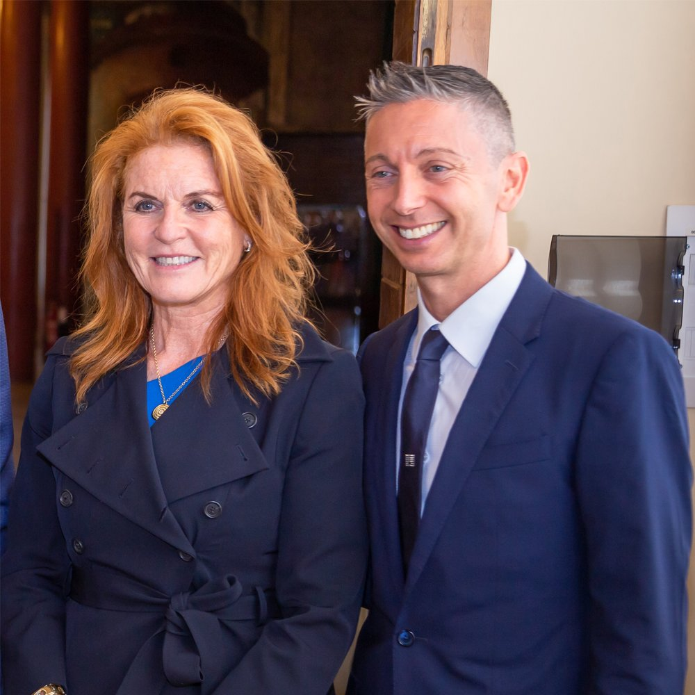 SARAH FERGUSON AND GIANLUCA MECH AT PADUA UNIVERSITY