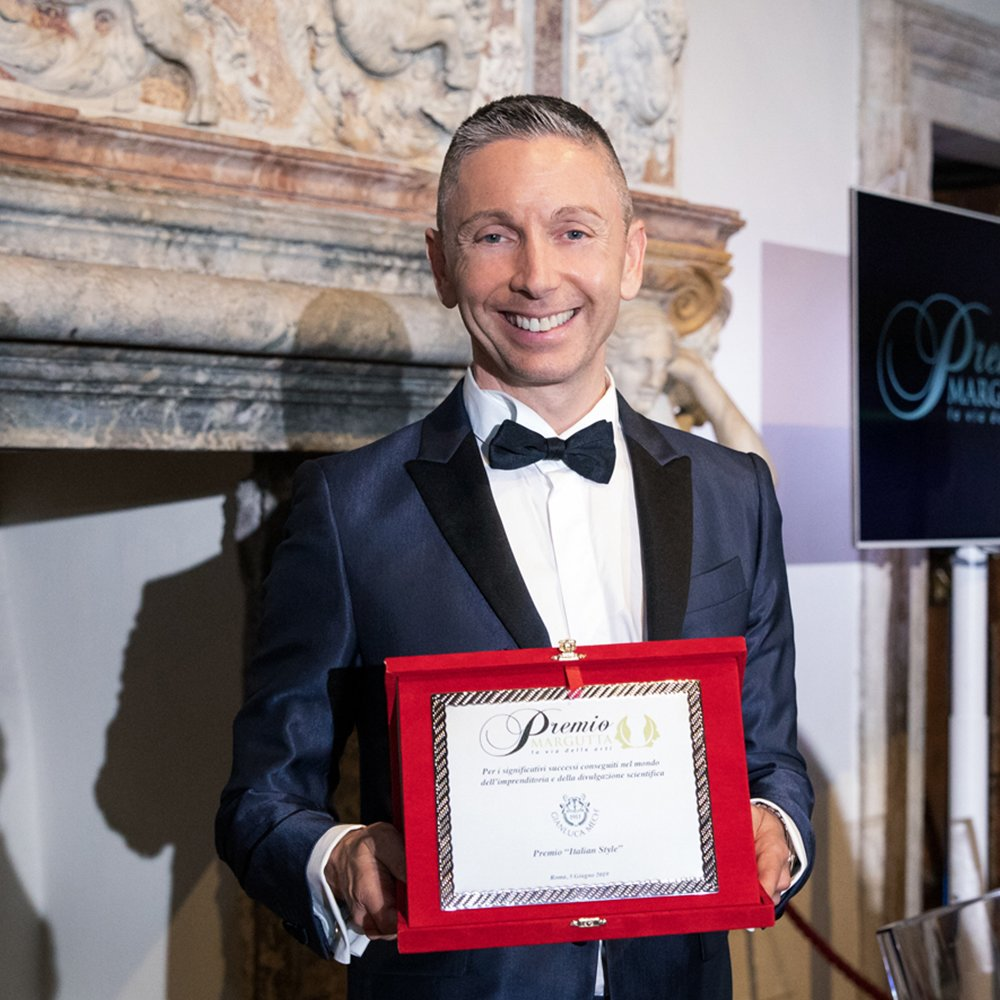GIANLUCA MECH HONORED AT THE 14TH EDITION OF THE MARGUTTA AWARD CALLED LA VIA DELLE ARTI