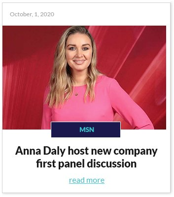 Anna Daly host panel discussion