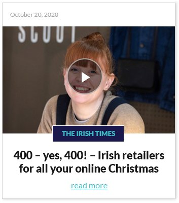Irish retailers online Christmas shopping