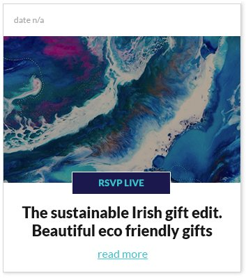 THE SUSTAINABLE IRISH GIFT EDIT
