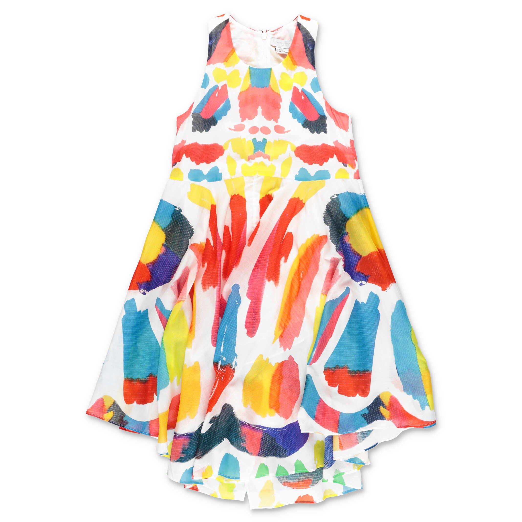Stella McCartney dress multicolor cotton muslin teen girl