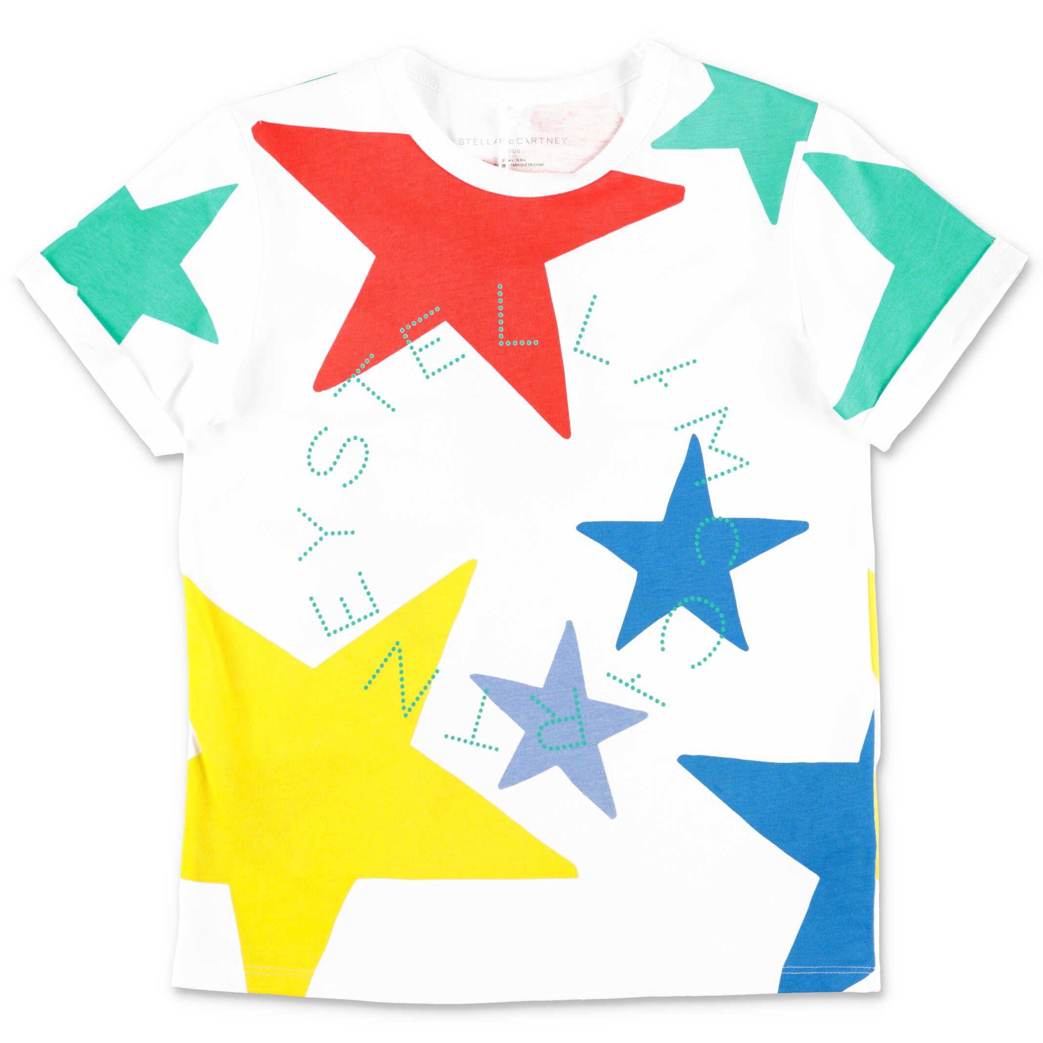 Stella McCartney t-shirt white cotton jersey teen girl