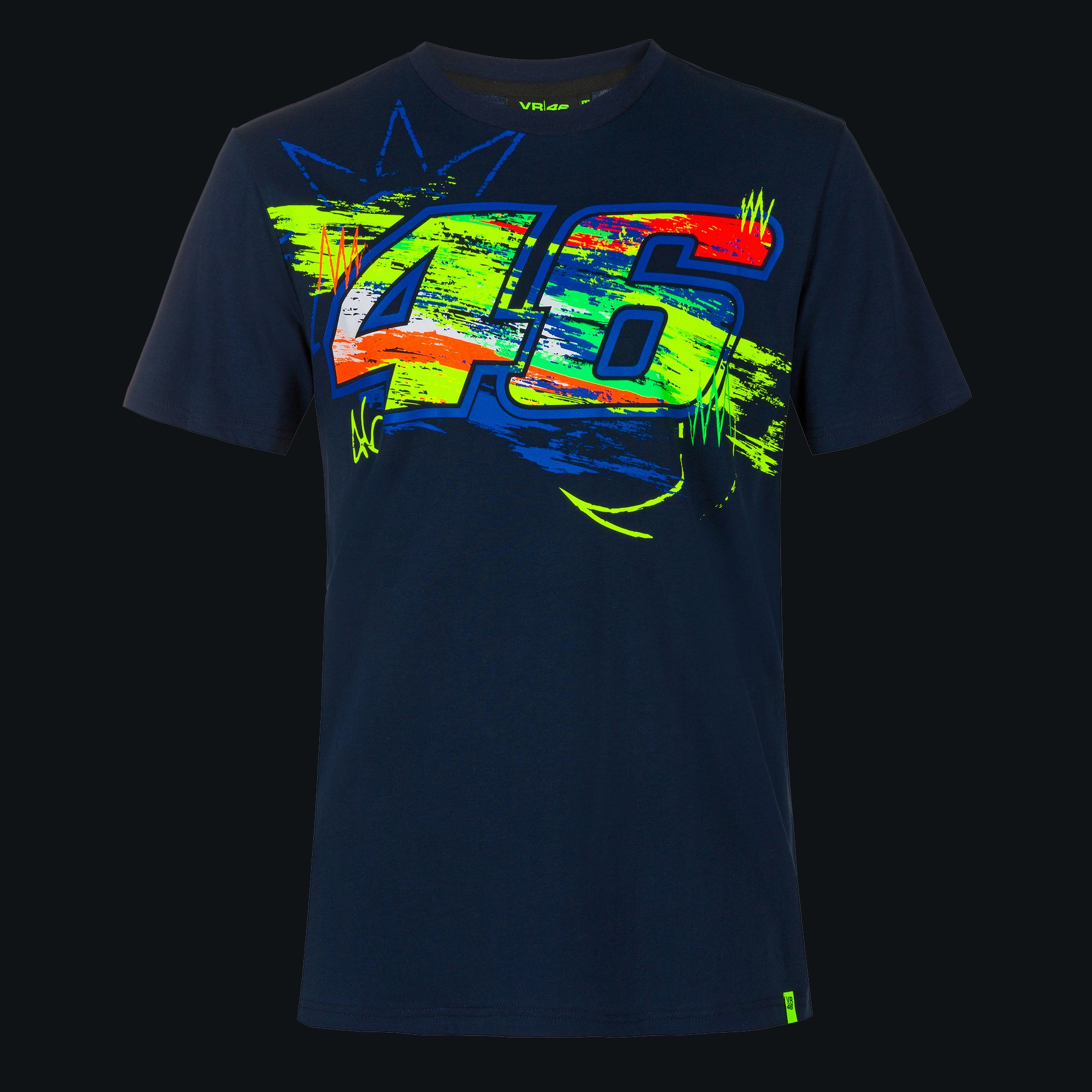 VR46 T-Shirt Core Large VR|46 Rossi Black Official Racing Apparel
