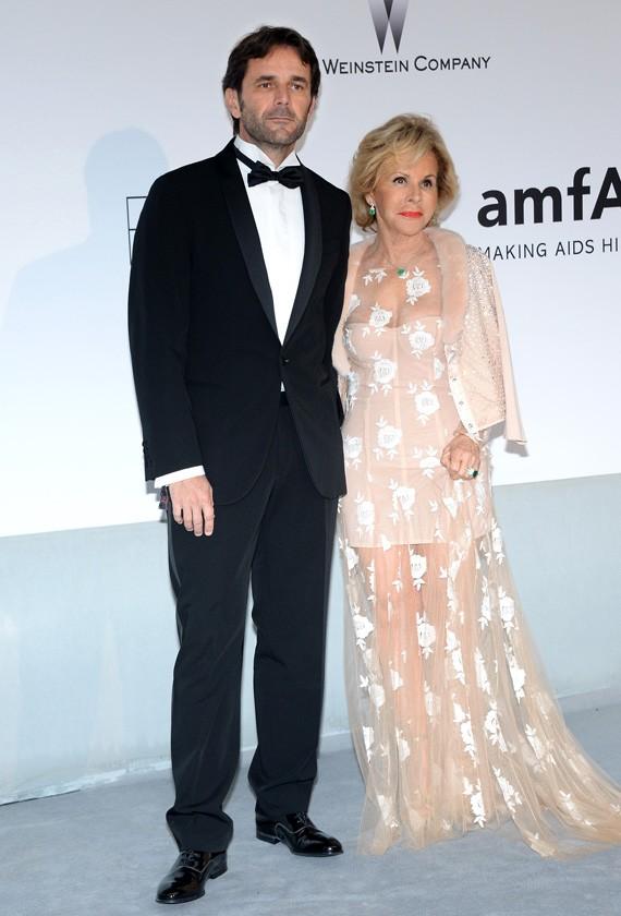 Gianguido Tarabini and Anna Molinari support amfAR