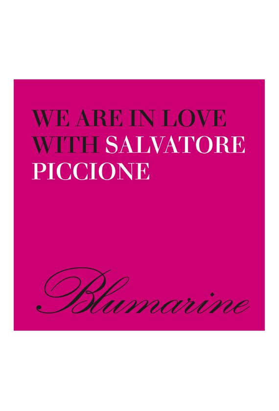 "Blumarine launches the new ""We are in love with Salvatore Piccione"" capsule collection"