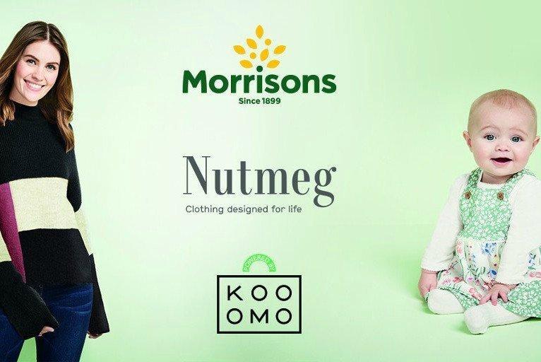 Morrisons collaborerà con Kooomo per lanciare il suo marchio di abbigliamento Nutmeg online