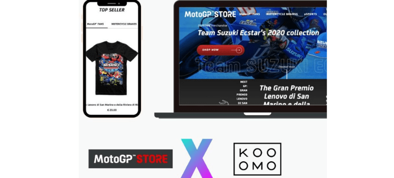 MotoGP™ wins online race with an upgraded online store, thanks to the Kooomo eCommerce platform