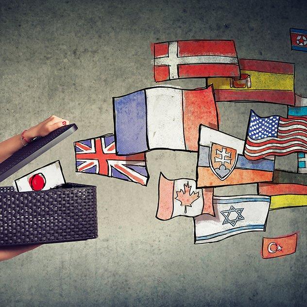 Manages different languages