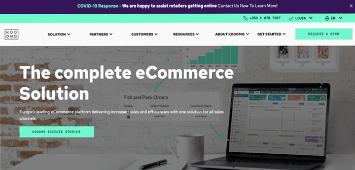 Kooomo showcases the very best in eCommerce technology through website reskin