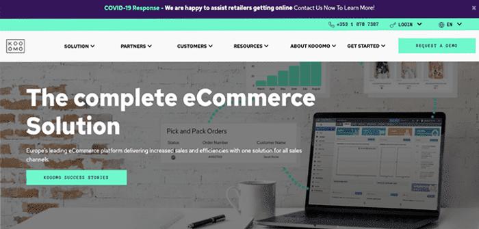 Kooomo showcases the very best in eCommerce technology through website reskin