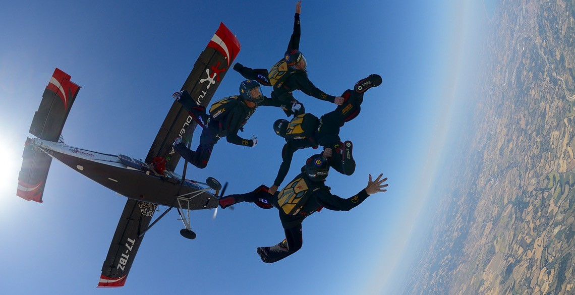 Hayabusa training in SkydiveFano