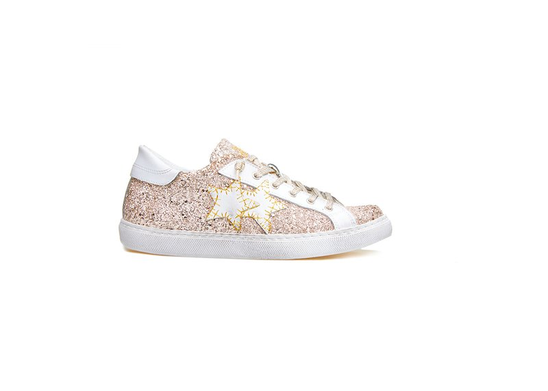 LOW ANTIQUE PINK SNEAKER-WHITE