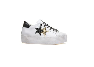 HS SNEAKER WHITE-BLACK-GOLD