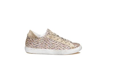 SNEAKER LOW TAUPE GLITTER MULTICOLOR