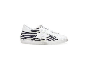WHITE-BLACK ZEBRA LOW SNEAKERS