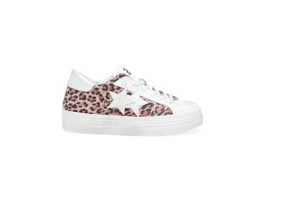 HS PINK SPOTTED LOW SNEAKERS