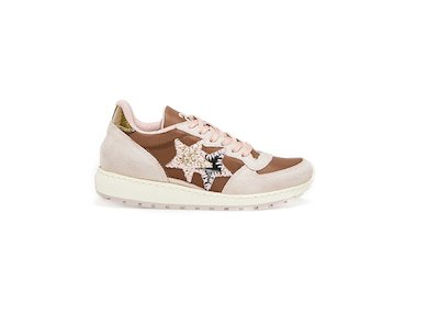 BROWN-PINK LOW SNEAKERS