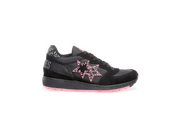BLACK-FLUO FUCHSIA  LOW SNEAKERS
