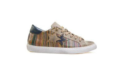 SNEAKER LOW MULTICOLOR-TAUPE