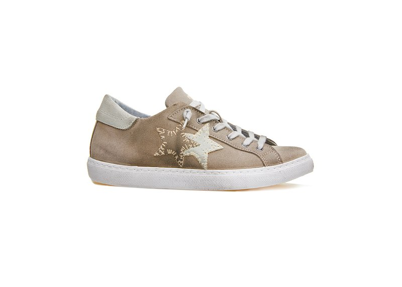 LOW SNEAKER TAUPE-WHITE