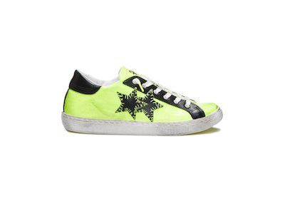 YELLOW FLUO - BLACK LOW SNEAKERS
