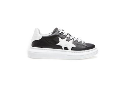 BLACK-WHITE LOW SNEAKER