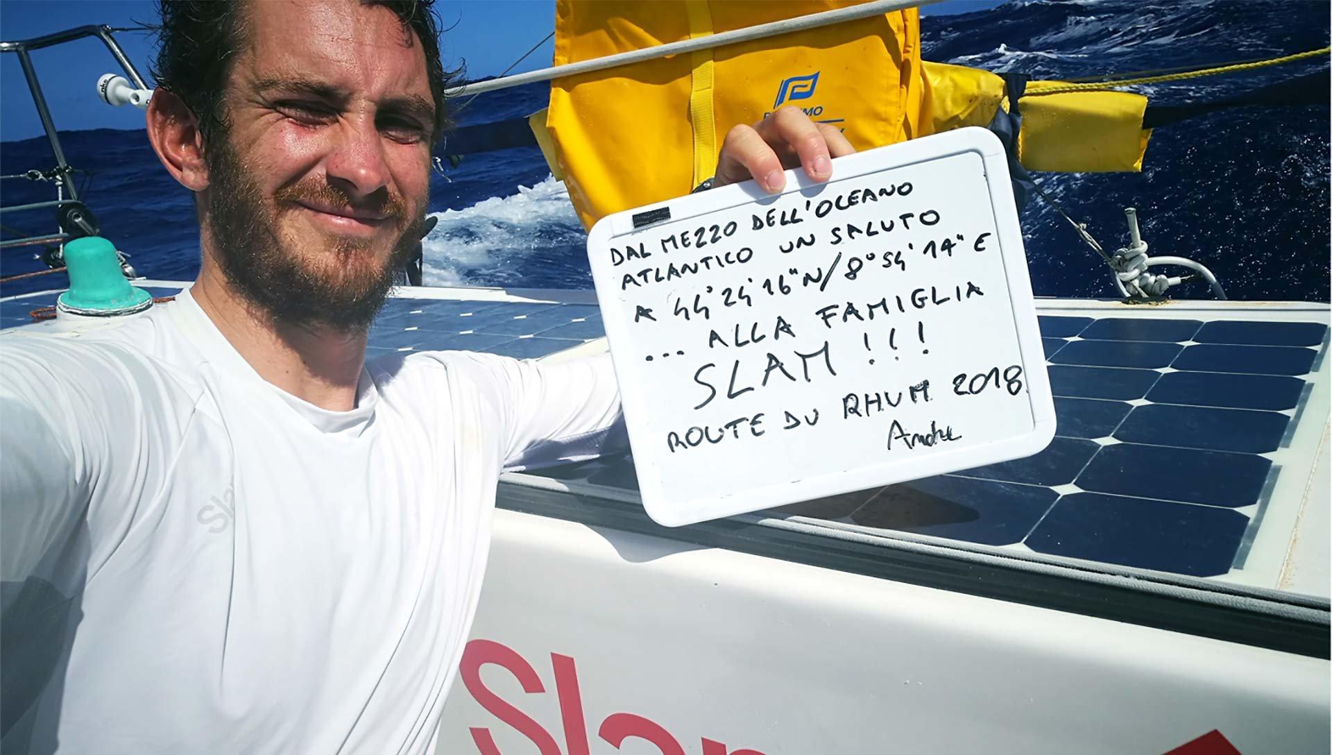 Lettre d'Andrea<br>Fantini de l'océan:<br>vent, mer<br>et passion sur la route<br>vers la Guadeloupe