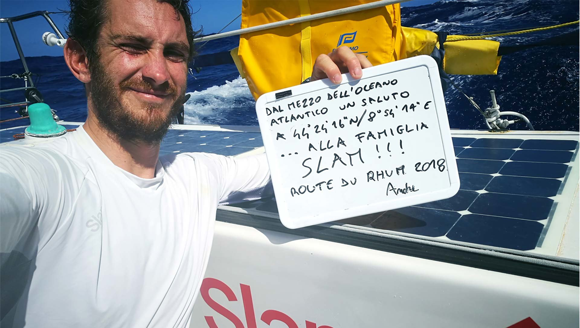 Letter from Andrea<br>Fantini out on the ocean:<br>wind, sea and<br>passion en route<br>to Guadeloupe