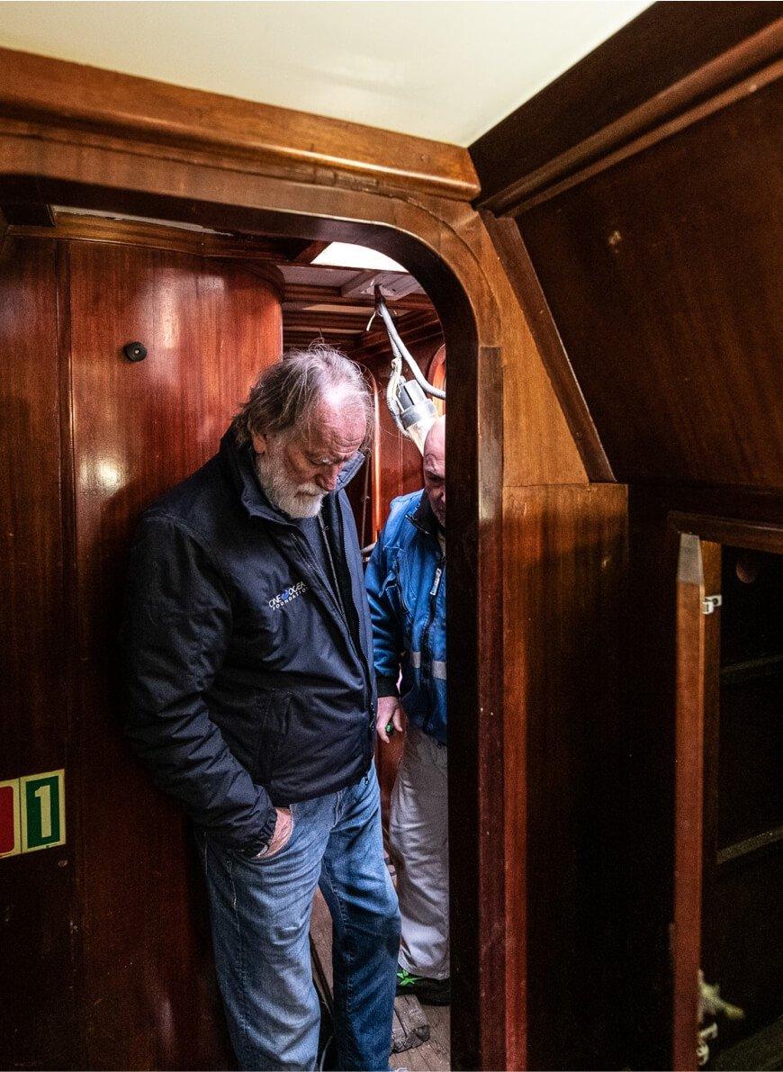 Leon Pancaldo and Slam on a<br>shared journey