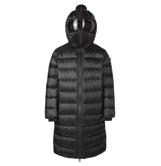 Long down jacket in nylon micro-ripstop