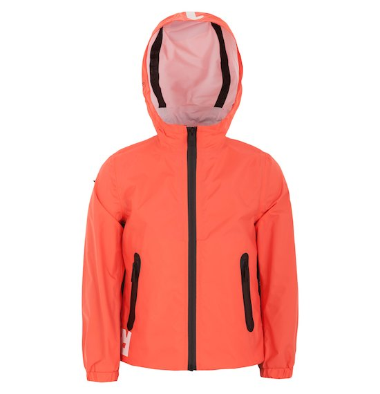 Windbreaker jacket with hood