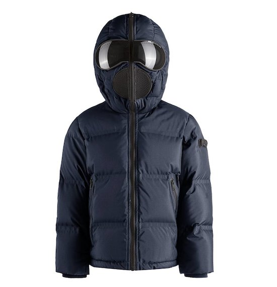 Down jacket heat sealed quilting with lenses