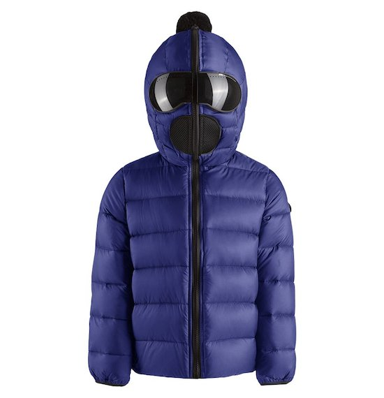 Down jacket nylon satin built-in lenses
