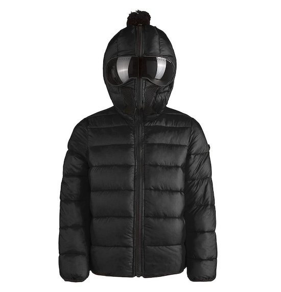 Down jacket nylon ripstop buil-in lenses