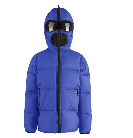 Down jacket mat nylon built-in lenses