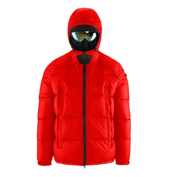 Short Down Jacket Microripstop Oversized Pockets