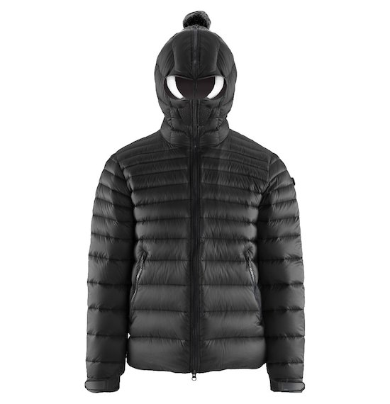 Short Down Jacket Microripstop Built-in Lenses